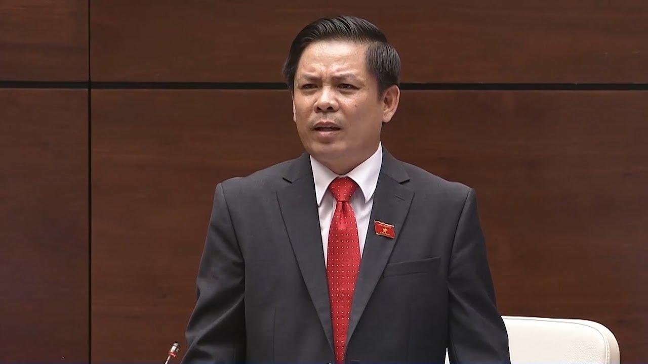 Bộ trưởng Bộ Giao thông vận tải Nguyễn Văn Thể trả lời chất vấn đại biểu Quốc hội