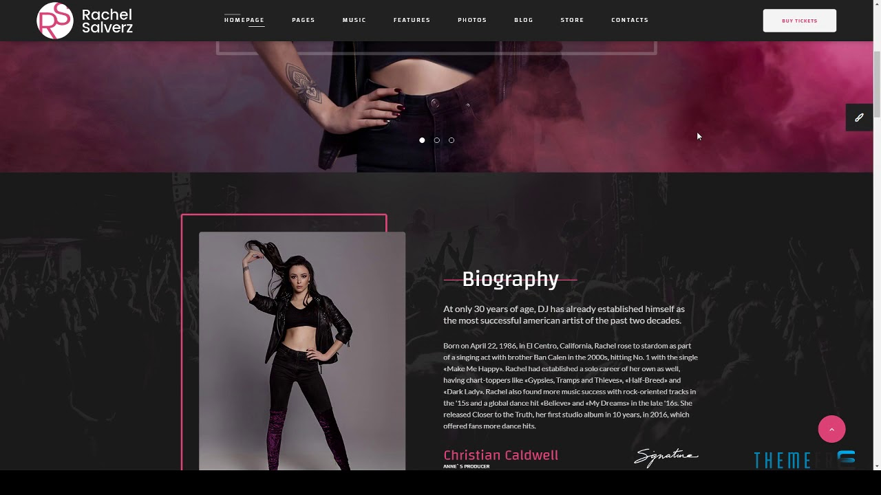 Singer - Music Singer HTML Template with Visual Page Builder D ...