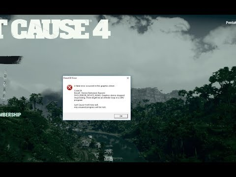 How To Fix Direct3d Fatal Error Code 34 Just Cause 4 Kak Ispravit