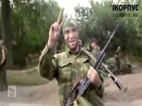 Видеосъемка с передовой.Тяжелые бои в районе села Кожевня. Новороссия.