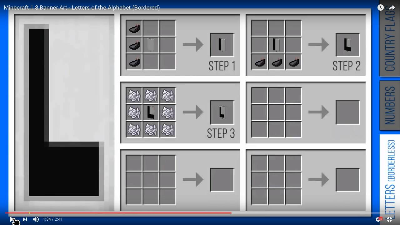 How To Make Banners With Letters In Minecraft
