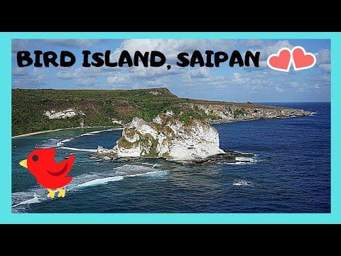SAIPAN: Views of BIRD ISLAND, one of largest bird sanctuaries in PACIFIC OCEAN