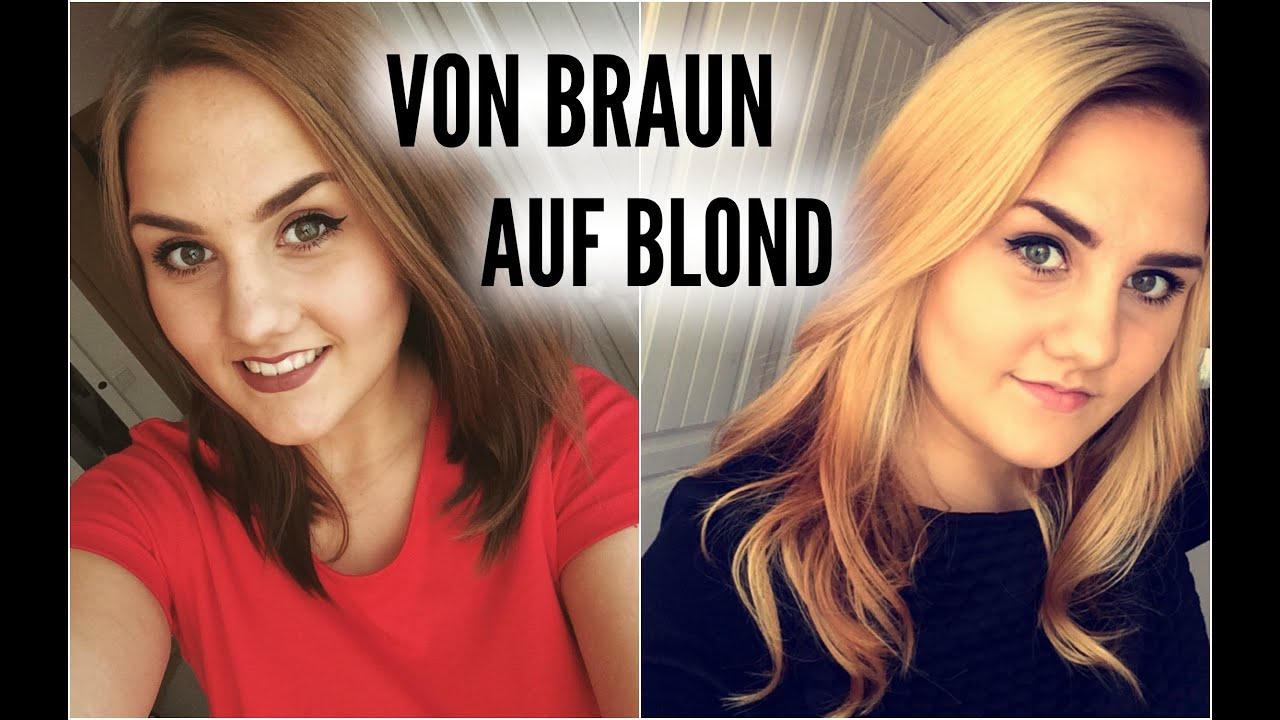 Blonde haare dunkelbraun tonen