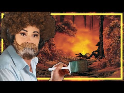 I tried painting the hardest Bob Ross Tutorial thumbnail