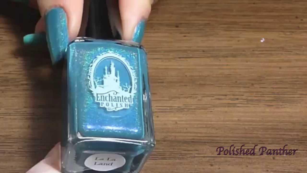 Enchanted Polish La La Land vs GAP Bright Pool & Nail Nation Grey ...