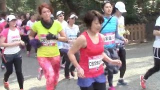 Shibuya Omotesando Women's Run 10km 2015.3.22 明治神宮 西参道出口 7...
