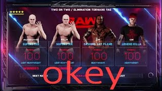 WWE 2k18 Two Vs Two Tornado Tag Team Match Online In Ps4