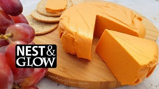 Smoked Cashew Vegan Cheese Recipe - Slices, Grates and Melts [no music]