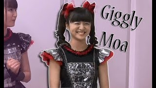 Moa Kikuchi/ Moametal (菊地最愛 ) Giggling during a interview. Full...