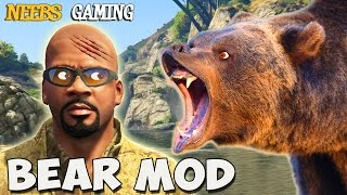 GTA 5 -  Bear Mod / Train - Lasso & Meteor Mods (Funny Moments)