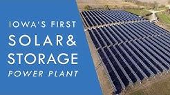 Iowa's first & largest solar+storage power plant