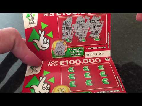 Winning National Lottery Scratch Cards