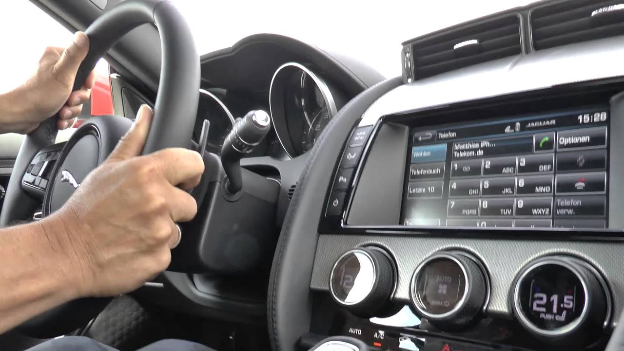 Jaguar F Type Coupe 3 0 V6 Interior Sound Sports Exhaust Innenraum Youtube
