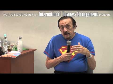 Prof. Zimbardo meets the International Business Management students