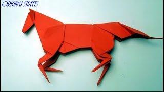 как сделать лошадь из бумаги. Оригами лошадь