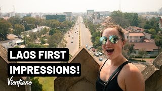FIRST 24 HOURS in Vientiane, Laos - TOP SIGHTS & LOCAL FOOD | Vlog 049