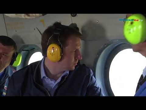 Мэр Сочи облетел территорию курорта на вертолете
