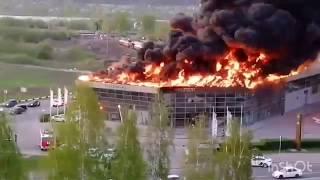 #новости #город #кемерово    В Кемерово загорелся автоцентр Hyundai 20.05.2019
