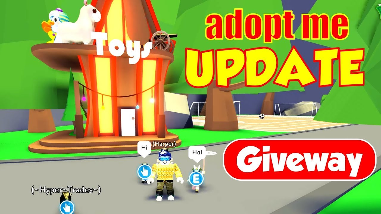 New Roblox Adopt Me Toy Update And Giveaway Youtube