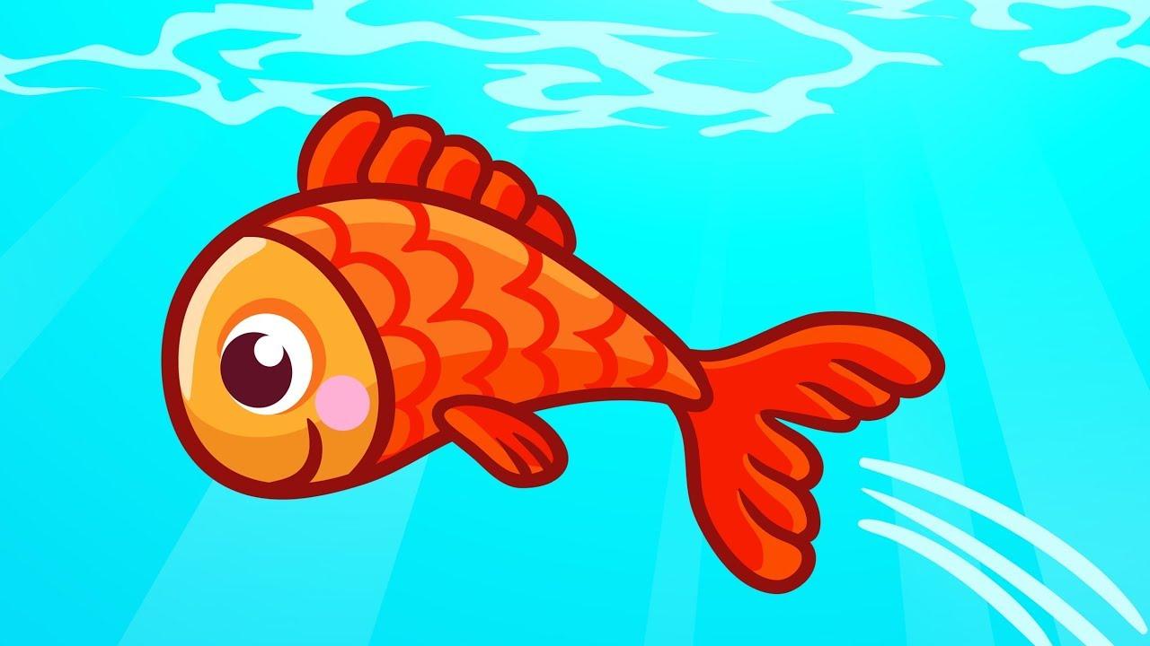 Kırmızı Balık Gölde Kıvrıla Kıvrıla Yüzüyor | Çocuk Şarkısı