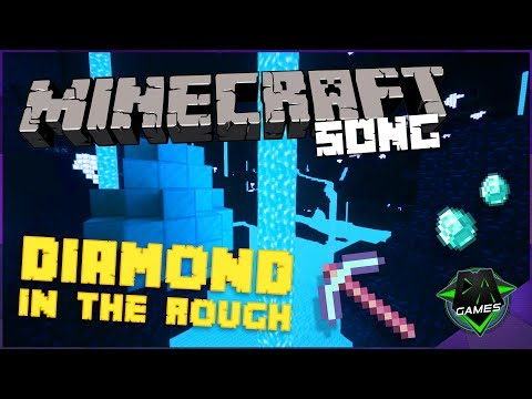 MINECRAFT SONG (Diamond In The Rough) LYRIC VIDEO - DAGames (Ft. SquigglyDigg)