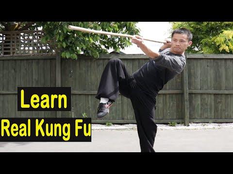 Shaolin Kung Fu Wushu Bo Staff Combo Training