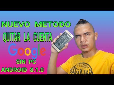COMO ELIMINAR LA CUENTA GOOGLE SIN PC ANDROID 8.1.0 BLU GRAM M2 HOW REMOVE THE ACCOUNT GOOGLE