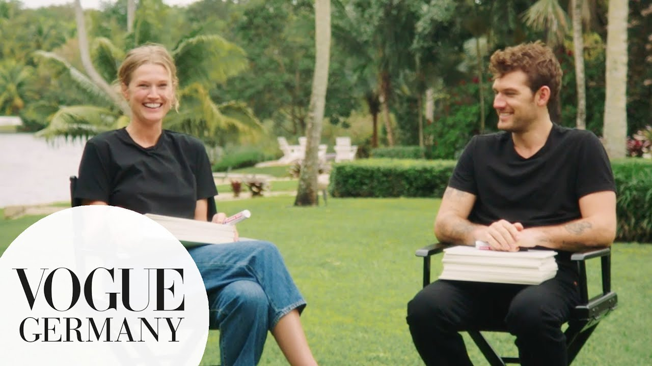 "Toni Garrn & Alex Pettyfer spielen ""The Newlywed Game""   Vogue Germany"