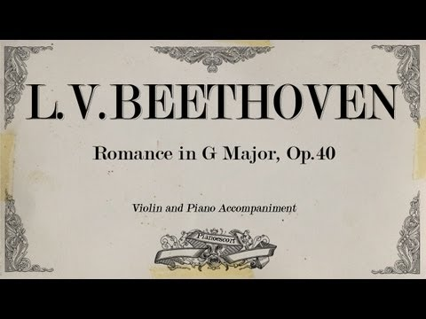L.V.Beethoven - Romance in G Major Op 40 -  Piano accompaniment