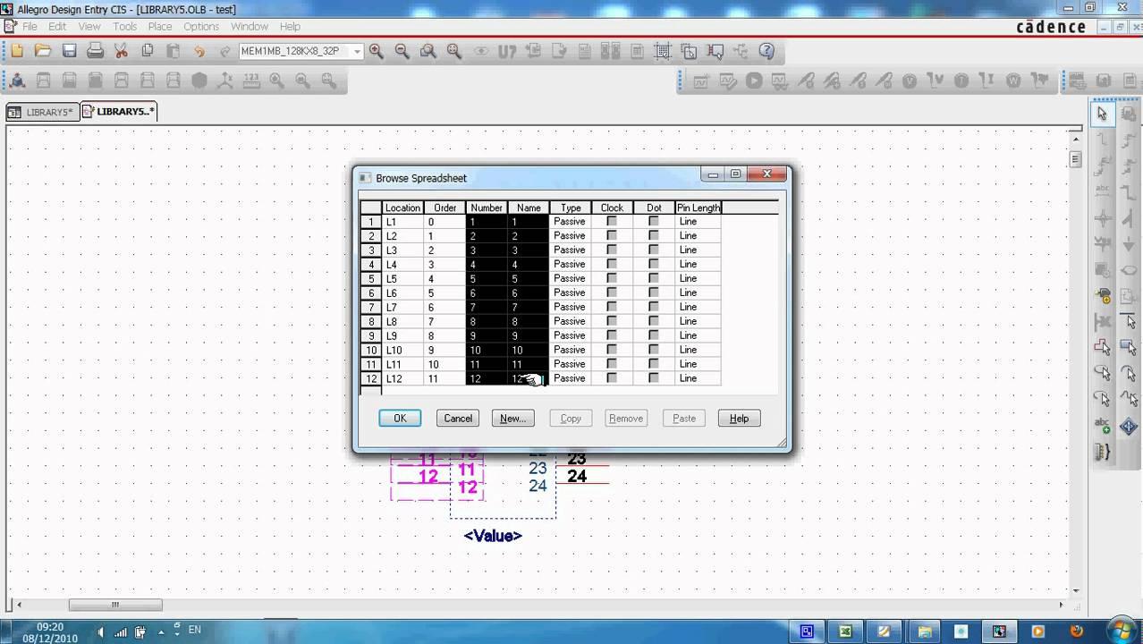 Orcad capture symbol from spreadsheetavi youtube biocorpaavc Choice Image
