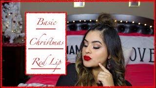 Gambar cover Basic Christmas Red Lip Look   Lesly Ayala