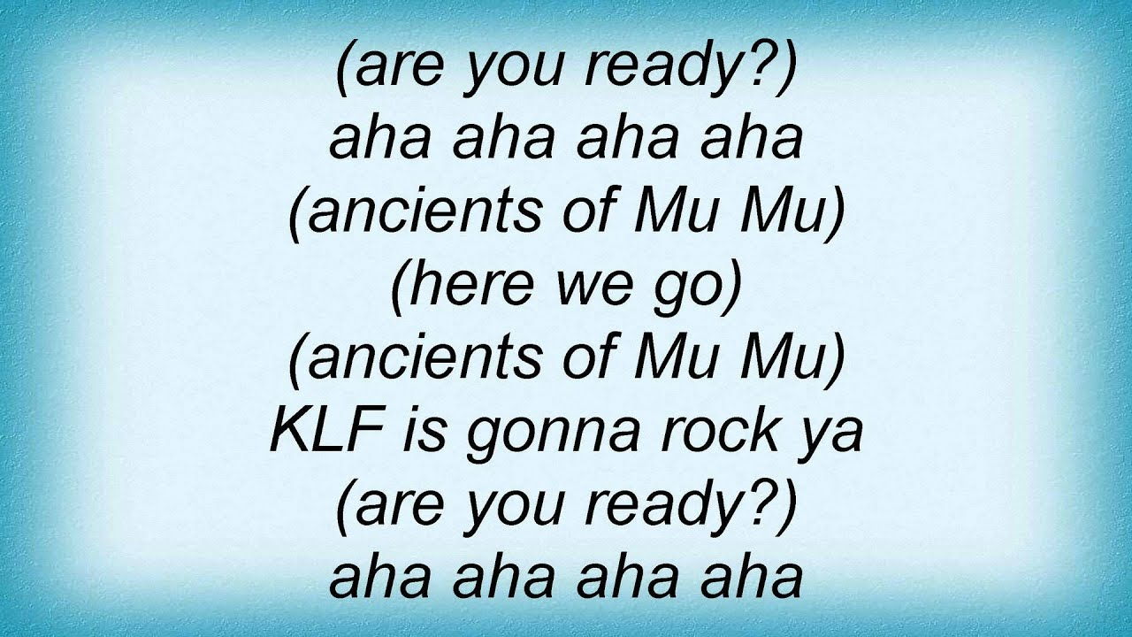 The KLF - 3 a.m. eternal (lyrics) - YouTube