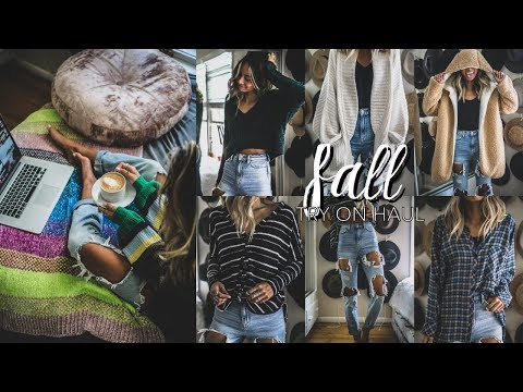 Fall Try-On Haul // Cozy Clothing & Apartment Decor