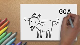 How to a Draw Goat [ for Young Artist ] - Basic Drawing Lesson for Children