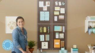 Learn & Do Making A Shutter Organizer - Home How-to Series - Martha Stewart