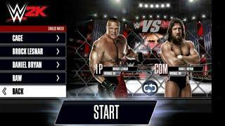 WWE 2k15 : Steel Cage Match (Brock Lesnar Vs. Daniel Bryan )