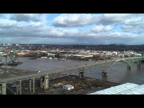 Portland City View atop OHSU Southwaterfront