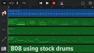How to make an 808 using stock drums on garageband iOS