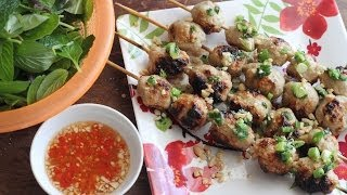 Nem Nuong (vietnamese Grilled Pork Meatballs/patties)