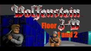 Wolfenstein 3D floor 1 and 2