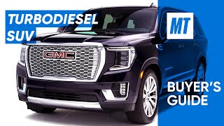 homepage tile video photo for Turbodiesel Six-Cylinder 2021 GMC Yukon Denali REVIEW | MotorTrend Buyer's Guide