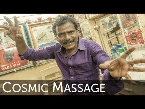 The World's Second Greatest Head Massage Video of Baba the Cosmic Barber !
