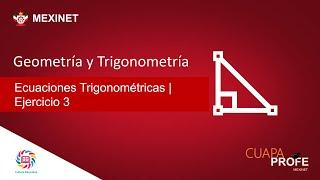 Ecuaciones Trigonométricas | Ejercicio 3 | #CuapaProfe