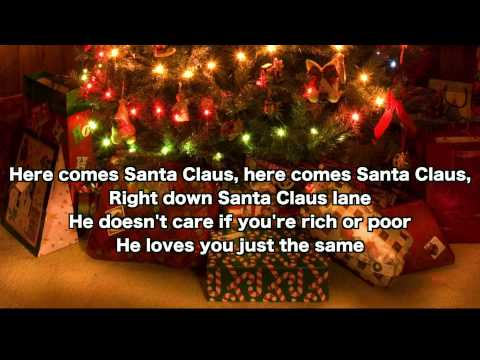 Here Comes Santa Claus (Lyric Video) Sing Along with Diane Miller