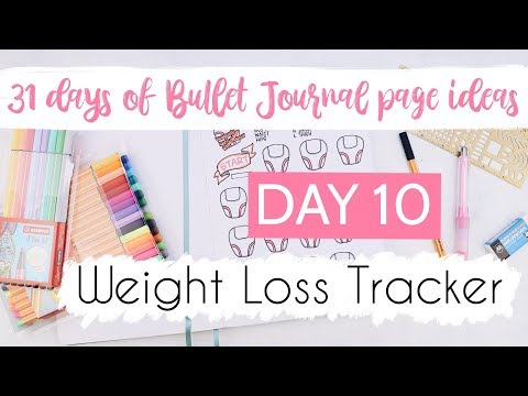 Weight Loss Tracker | 31 Days of Bullet Journal Page Ideas | Day 10