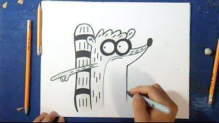 Como desenhar o Rigby 5