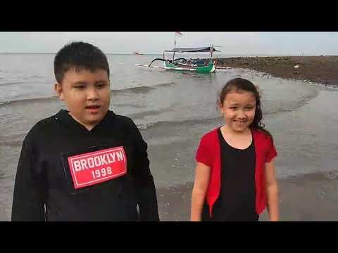 "Samuel and Elsha at ""White Sand Beach""."