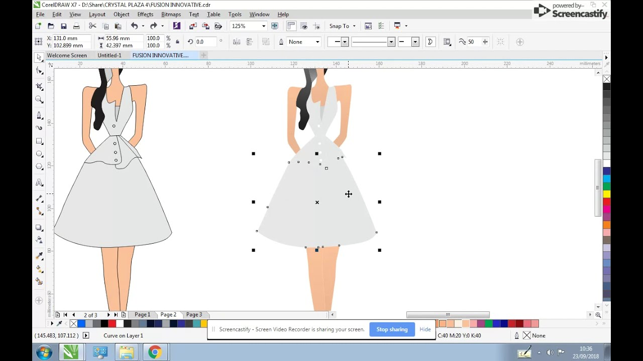 Fashion Design Using Coloring Your Sketch Coreldraw Tutorial Youtube