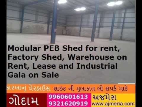Modular PEB Shed for rent,Factory Shed, Warehouse on Rent, Lease and Industrial Gala on Sale
