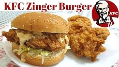 KFC Style Zinger Burger Recipe - Perfect KFC Copycat Recipe - Burger Week Last Day